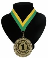 Fan medaille nr 1 lint geel en groen