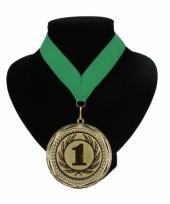 Fan medaille nr 1 lint groen