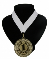 Fan medaille nr 1 lint wit