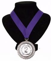 Fan medaille nr 2 lint paars