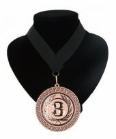 Fan medaille nr 3 lint zwart