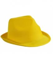 Feest hoedje geel