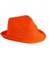 Feest hoedje oranje