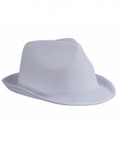 Feest hoedje wit al capone