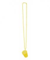 Feest ketting met shotglas geel
