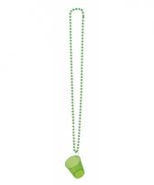 Feest ketting met shotglas groen
