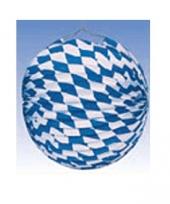 Feest lampionnen blauw wit 25 cm