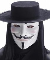 Feest masker wit v for vendetta