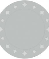 Feest placemats karton metallic zilver 6 stuks