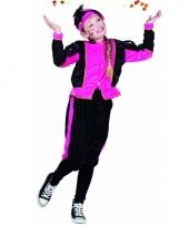 Feest roze pieten outfit voor meisjes