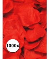 Feest rozenblaadjes rood 1000 st