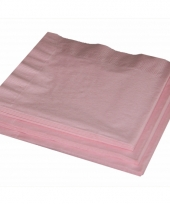 Feest servetjes baby roze