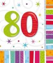 Feest servetten 80 jaar