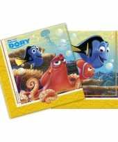 Feest servetten met finding dory plaatjes 20 stuks