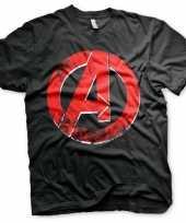 Feest t-shirt avengers logo voor heren