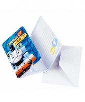 Feest uitnodigingen thomas de trein 6 x