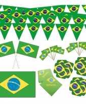 Feestartikelen brazilie thema versiering xl pakket