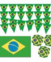 Feestartikelen brazilie versiering pakket 10114092