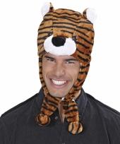 Feestartikelen tijgers muts voor volwassenen