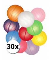 Feestpakket met gekleurde lampionnen