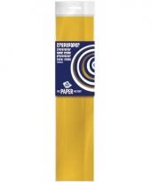 Feestversiering crepepapier oker geel