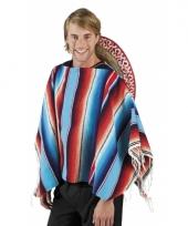Fel gekleurde mexicaanse poncho
