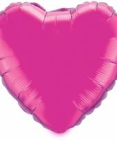 Felroze folieballon 52 cm