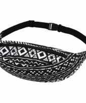 Festival geldtasje aztec print zwart wit