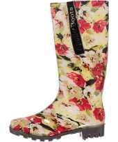 Festival laarzen met bloemetjes print