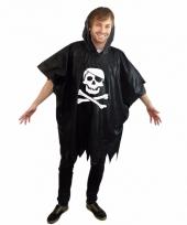 Festival piraten regenponcho zwart