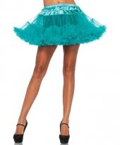 Fifties thema korte petticoat groene voor dames