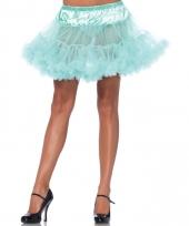 Fifties thema korte petticoat mint groene voor dames