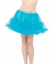 Fifties thema korte petticoat turquoise voor dames