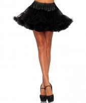 Fifties thema korte petticoat zwart voor dames