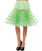 Fifties thema lange petticoat neon groen voor dames