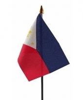 Filipijnse landenvlag op stokje