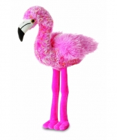 Flamingo knuffeltje 20 cm