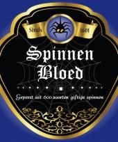 Flessen etiket spinnenbloed