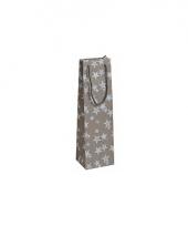 Flessen kadotasje brons glitter met sterren 11 x 36 cm