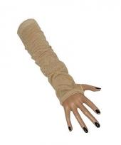 Fluwelen look lange handschoenen 10019406