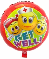 Folie ballon beterschap emoticon 45 cm