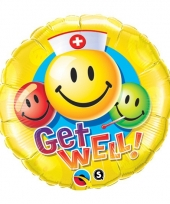 Folie ballon beterschap smiley 45 cm