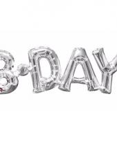 Folie ballon birthday zilver 66 cm