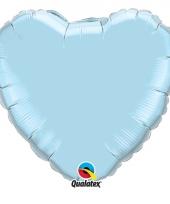 Folie ballon blauw hart 45 cm