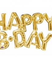 Folie ballon happy b day goud 76 cm