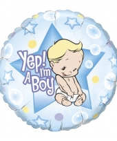 Folie ballon yep i am a boy