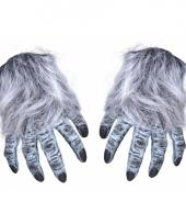 Fop weerwolf klauwen grijs