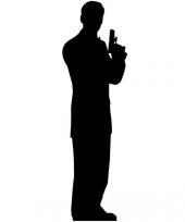 Foto bord van een geheim agent