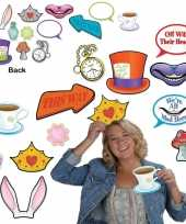 Foto prop set alice in wonderland dubbelzijdig 12 delig