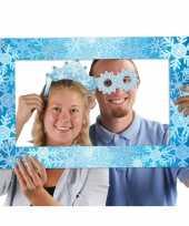 Foto props set met lijst thema sneeuw